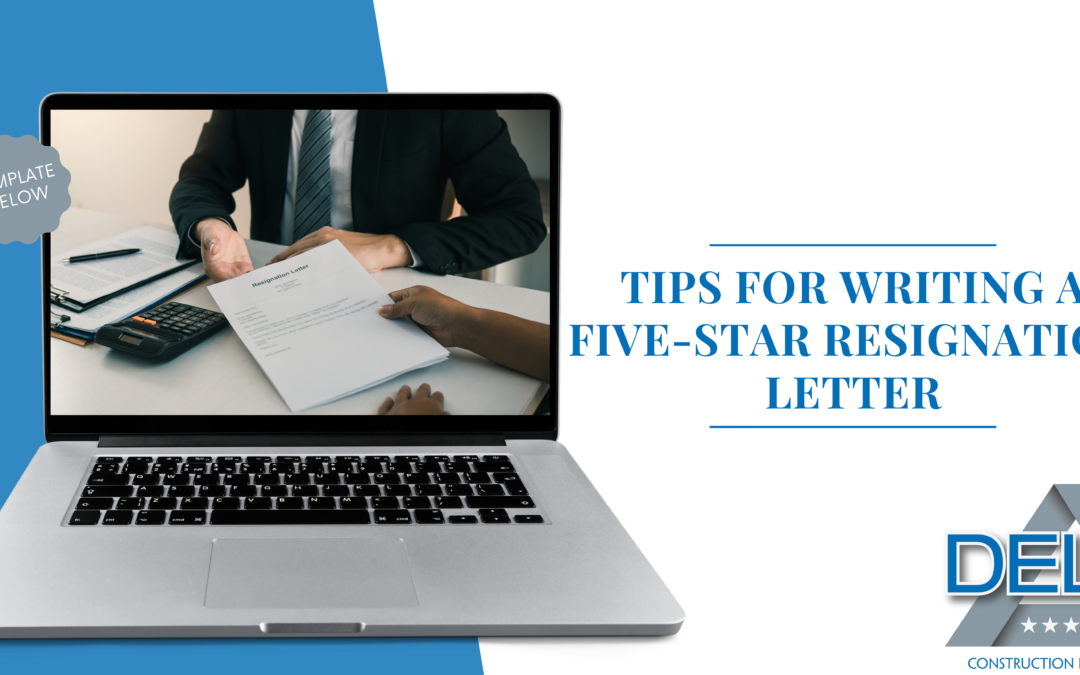 Tips for writing a five-star resignation letter